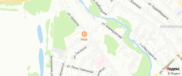 Улица Цюрупы на карте Ишимбая с номерами домов