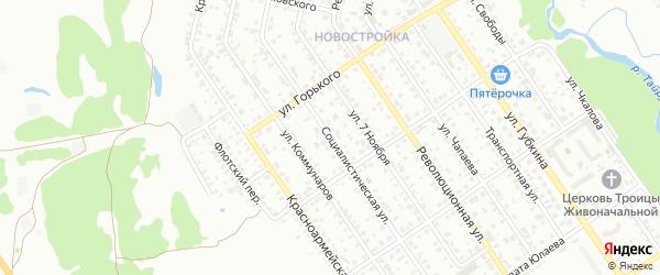 Социалистическая улица на карте Ишимбая с номерами домов