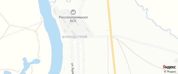 Улица Бурводстрой на карте Ишимбая с номерами домов