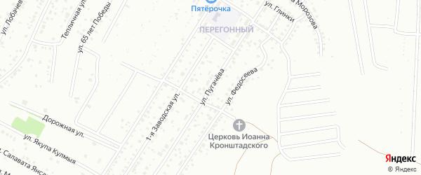 Улица Пугачева на карте Ишимбая с номерами домов
