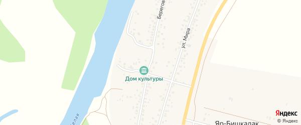 Береговая улица на карте деревни Яра-Бишкадака с номерами домов