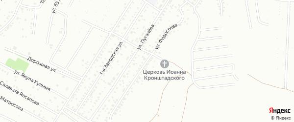 Улица Федосеева на карте Ишимбая с номерами домов