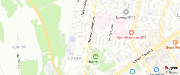 Промысловая улица на карте Ишимбая с номерами домов