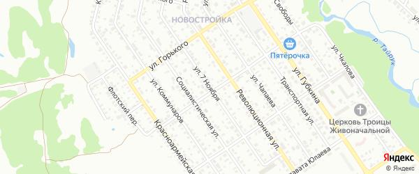 Улица 7 Ноября на карте Ишимбая с номерами домов