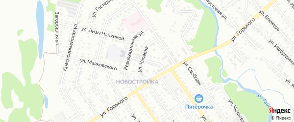 Школьная улица на карте Ишимбая с номерами домов