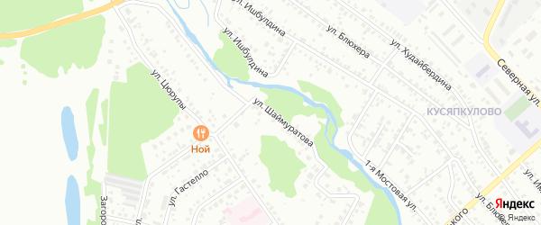 Улица Шаймуратова на карте Ишимбая с номерами домов