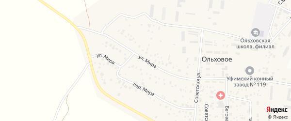 Улица Мира на карте Ольхового села с номерами домов