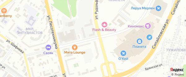 Улица Энтузиастов на карте Уфы с номерами домов