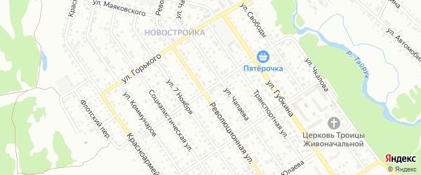 Волочаевская улица на карте Ишимбая с номерами домов