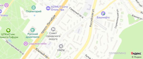 Новогорная улица на карте Уфы с номерами домов