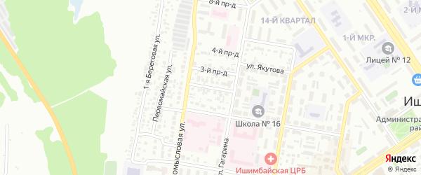 Пионерская улица на карте Ишимбая с номерами домов