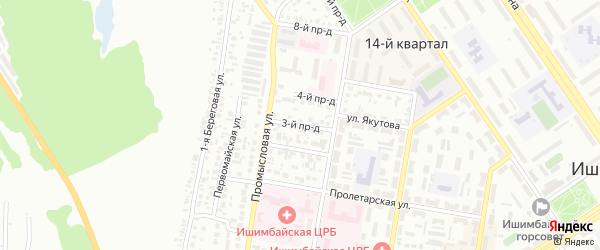 3-й проезд на карте Ишимбая с номерами домов