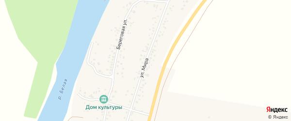 Улица Мира на карте деревни Яра-Бишкадака с номерами домов