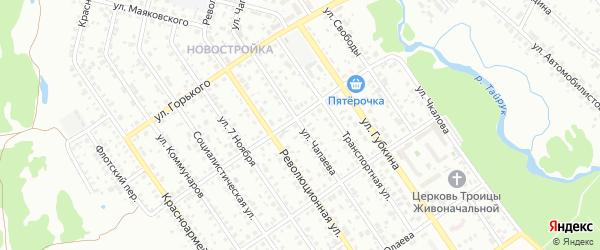 Улица Чапаева на карте Ишимбая с номерами домов