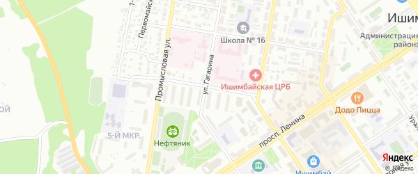 Улица Академика Павлова на карте Ишимбая с номерами домов