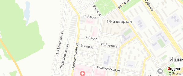 4-й проезд на карте Ишимбая с номерами домов