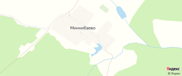 Улица Ибрагимова на карте деревни Миннибаево с номерами домов