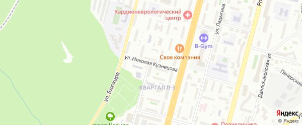 Улица Николая Кузнецова на карте Уфы с номерами домов