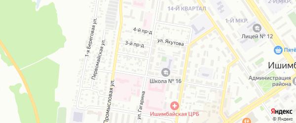Улица Гагарина на карте Ишимбая с номерами домов