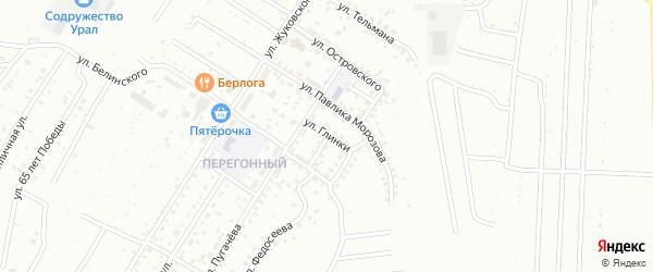 Улица Глинки на карте Ишимбая с номерами домов