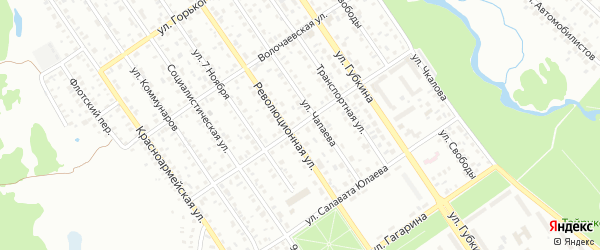 Улица Крупской на карте Ишимбая с номерами домов
