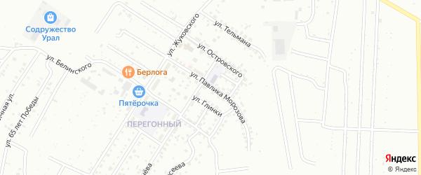 Улица Павлика Морозова на карте Ишимбая с номерами домов