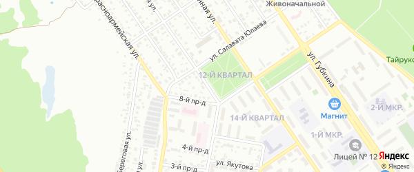 9-й проезд на карте Ишимбая с номерами домов