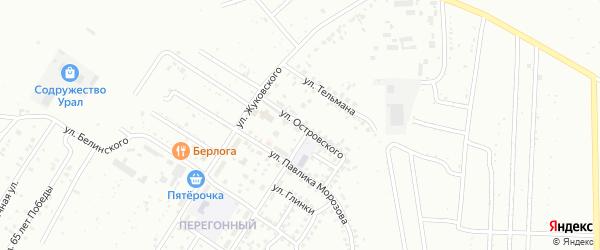 Улица Островского на карте Ишимбая с номерами домов