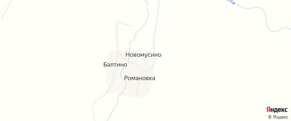 Карта деревни Романовки в Башкортостане с улицами и номерами домов