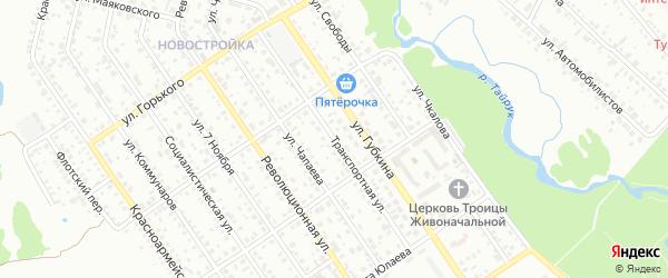 Транспортная улица на карте Ишимбая с номерами домов