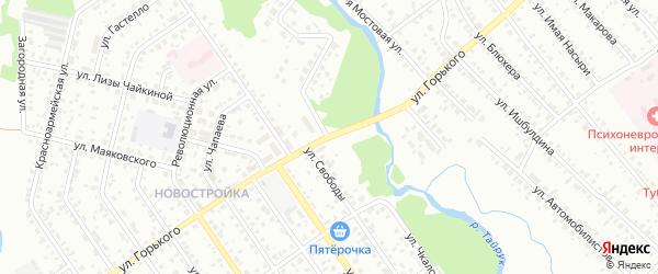Улица Горького на карте Ишимбая с номерами домов