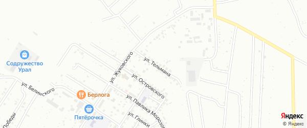 Улица Тельмана на карте Ишимбая с номерами домов