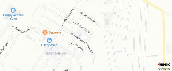 Авиационная улица на карте Ишимбая с номерами домов