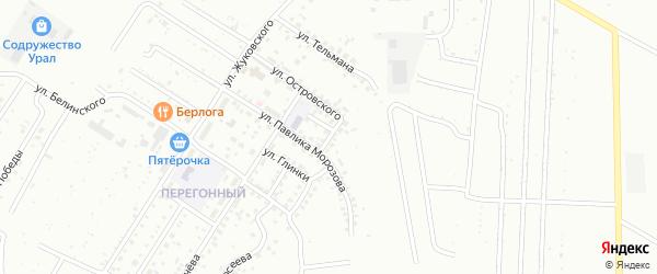 Улица Танкистов на карте Ишимбая с номерами домов