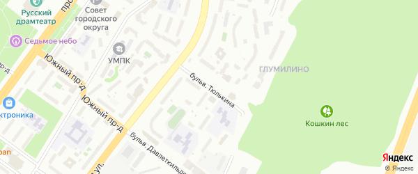 Бульвар Тюлькина на карте Уфы с номерами домов