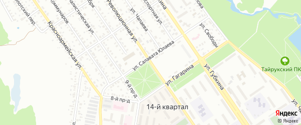 Революционная улица на карте Ишимбая с номерами домов