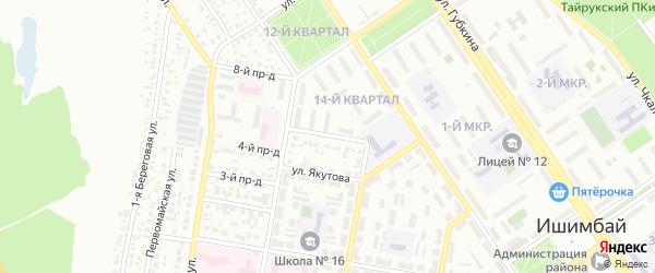 Улица Нуриманова на карте Ишимбая с номерами домов