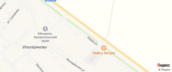 Новая улица на карте села Ильтеряково с номерами домов