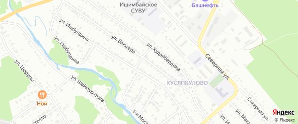 Улица Блюхера на карте Ишимбая с номерами домов