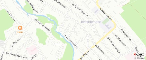 Прибрежный переулок на карте Ишимбая с номерами домов