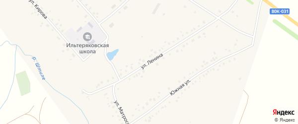 Улица Ленина на карте села Ильтеряково с номерами домов