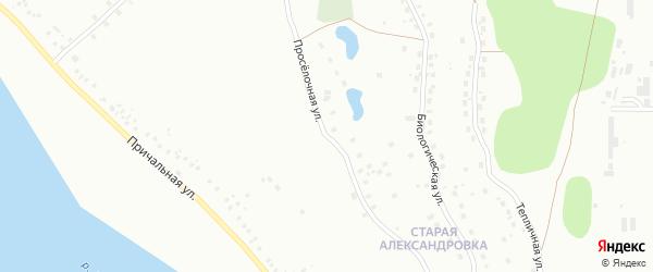 Проселочная улица на карте Уфы с номерами домов