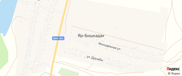 Улица Бурводстрой на карте деревни Яра-Бишкадака с номерами домов