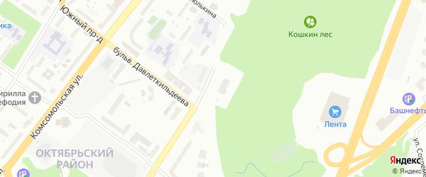 Улица Рудольфа Нуреева на карте Уфы с номерами домов
