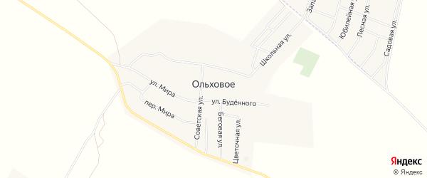 Карта Ольхового села в Башкортостане с улицами и номерами домов