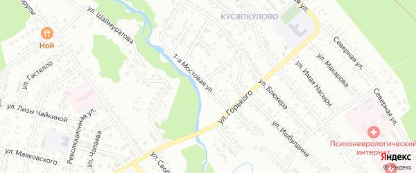 Мостовая 1-я улица на карте Ишимбая с номерами домов