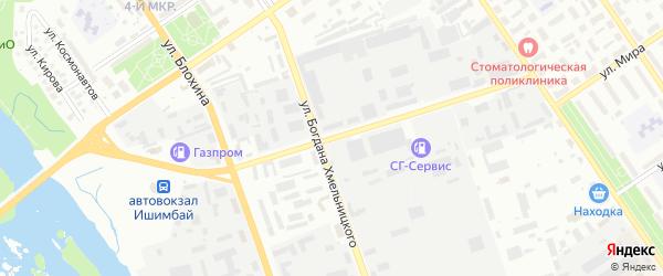 Улица Жукова на карте Ишимбая с номерами домов