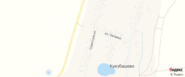 Советская улица на карте села Куезбашево с номерами домов