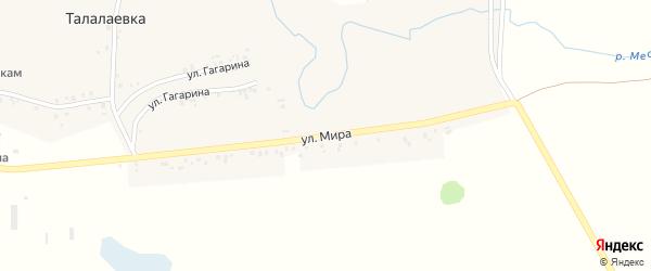 Улица Мира на карте села Талалаевки с номерами домов