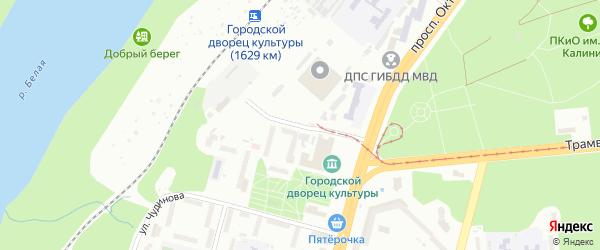 Улица Чудинова на карте Уфы с номерами домов